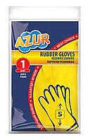 Рукавички латексні міцні S - Azur