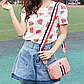 Жіноча міні-рожева сумочка код 3-428, фото 6