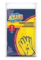 Рукавички латексні міцні M - Azur