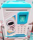 Дитячий сейф скарбничка з відбитком пальця і кодовим замком | Скарбничка-сейф | Дитяча скарбничка сейф, фото 6