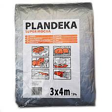 Тент от дождя солнца и снега 3х4 м 180 г/м2 Польский ламинированный с кольцами Plandeka