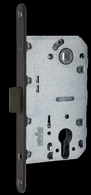 Механизм для дверей под цилиндр MVM P-2056C Black