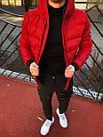 😜 Куртка - Мужская куртка зимняя красная на меху, фото 2