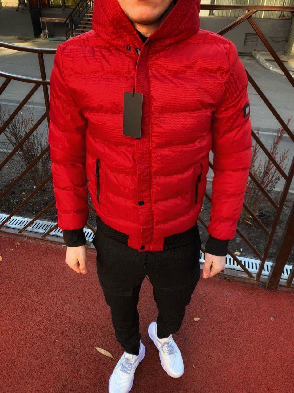 😜 Куртка - Мужская куртка зимняя красная на меху