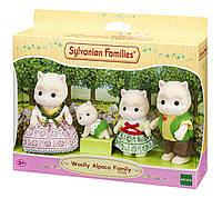 Детский игровой набор фигурок зверят Sylvanian Families Семья Альпака Wooly Alpaca Family Set 5358