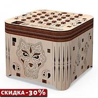"Деревянный конструктор ""Шкатулка. Тайна тигра"", 89 эл 10606"