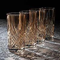 "Набір склянок ""Зальцбург Золотий мед"" 380 мл, 4 шт, Luminarc."