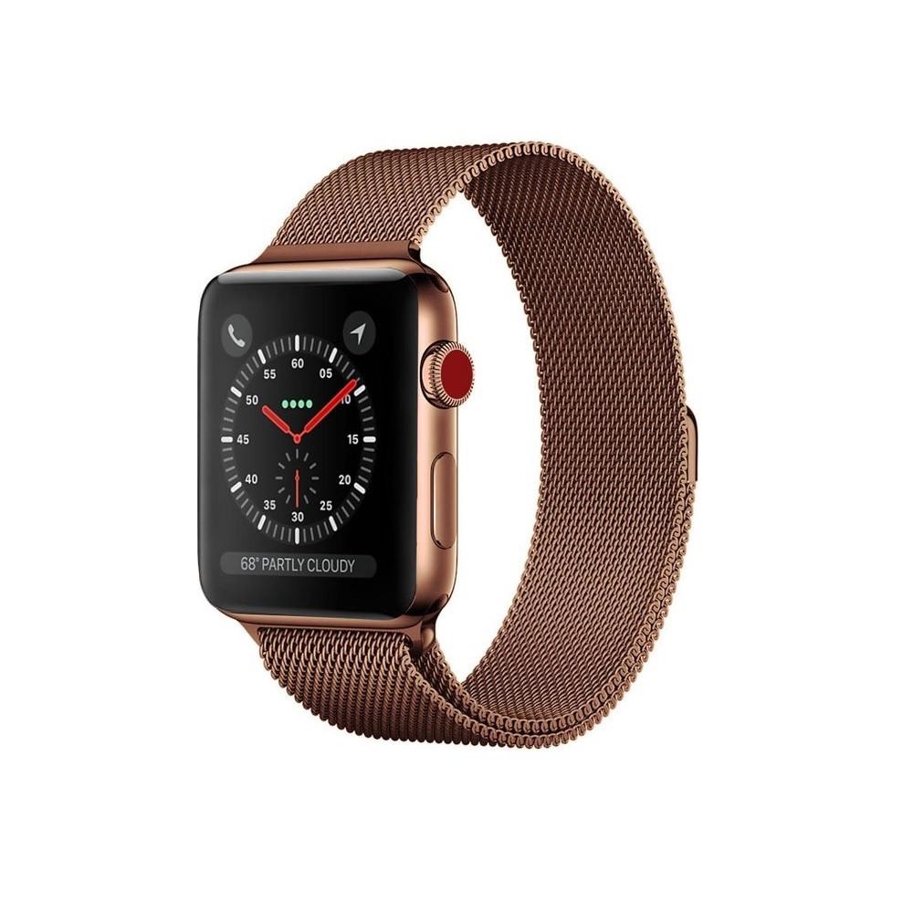 Ремешок для часов Milanese loop steel bracelet Apple watch, 42-44 мм. Bronze