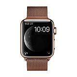 Ремешок для часов Milanese loop steel bracelet Apple watch, 42-44 мм. Bronze, фото 2