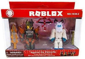 Фигурки героев компьютерной игры Roblox1838-2 Роблокс - 2 героя, аксессуары
