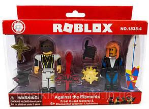 Фигурки героев компьютерной игры Roblox1838-4 Роблокс - 2 героя, аксессуары