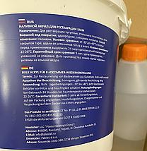 Жидкий акрил наливной Plastall (Пластол) Premium для реставрации ванны 1.7 м (3,3 кг) Оригинал, фото 3
