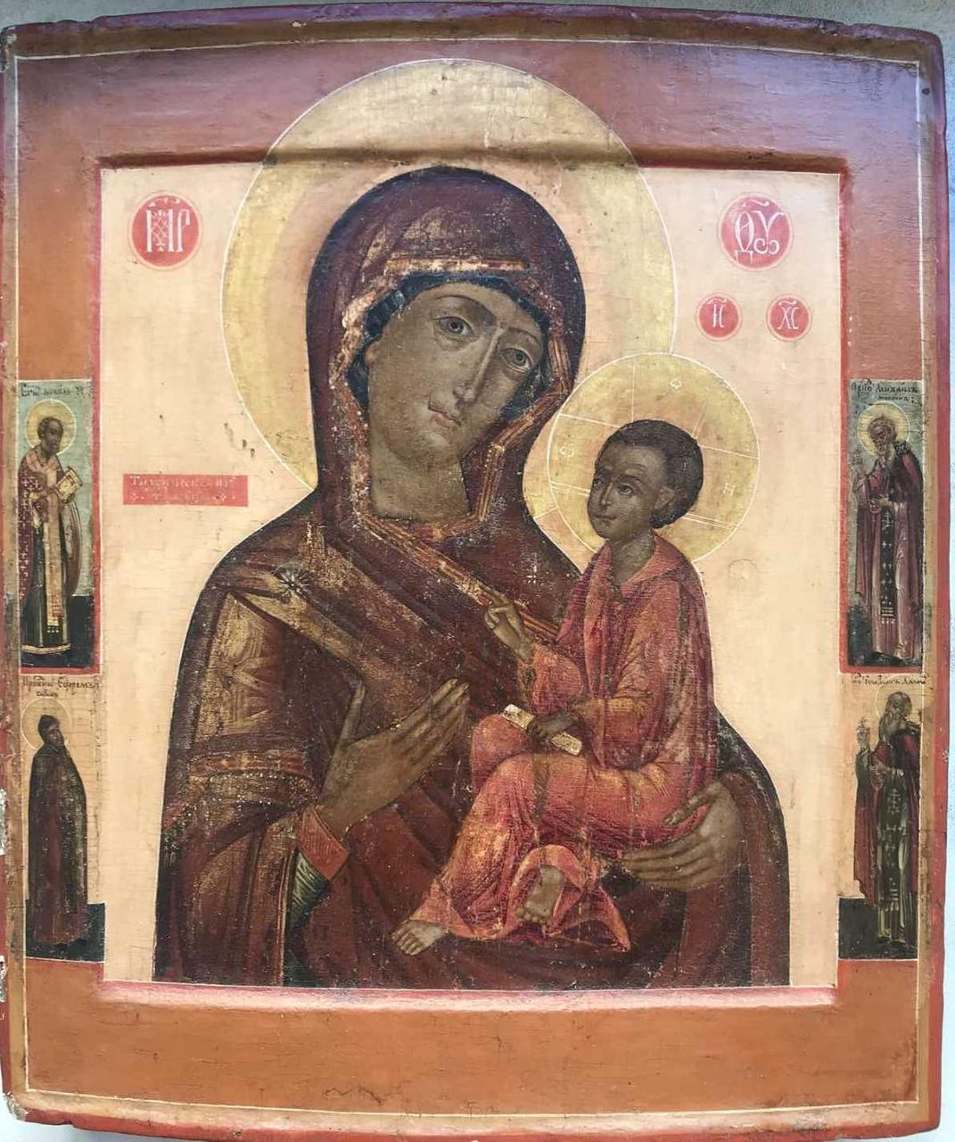 Тихвинская икона Божьей Матери 18 век