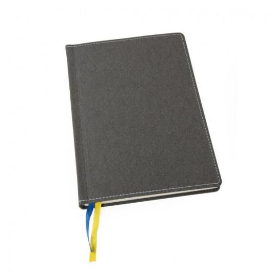 Ежедневник А5 не датированный кремовый блок ДЕНИМ, для нанесения логотипа