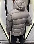 😜 Куртка Чоловіча куртка зимова з капюшоном світло сіра, фото 2