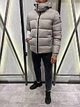 😜 Куртка Чоловіча куртка зимова з капюшоном світло сіра, фото 3
