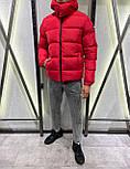 😜 Куртка - Мужская куртка зимняя с капюшоном красная, фото 2