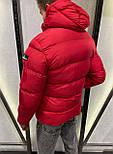 😜 Куртка - Мужская куртка зимняя с капюшоном красная, фото 3
