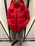 😜 Куртка - Мужская куртка зимняя с капюшоном красная, фото 4