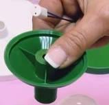 Светильник-комплект 8см G4 с зеленым переходником на трубу 16 мм, фото 4