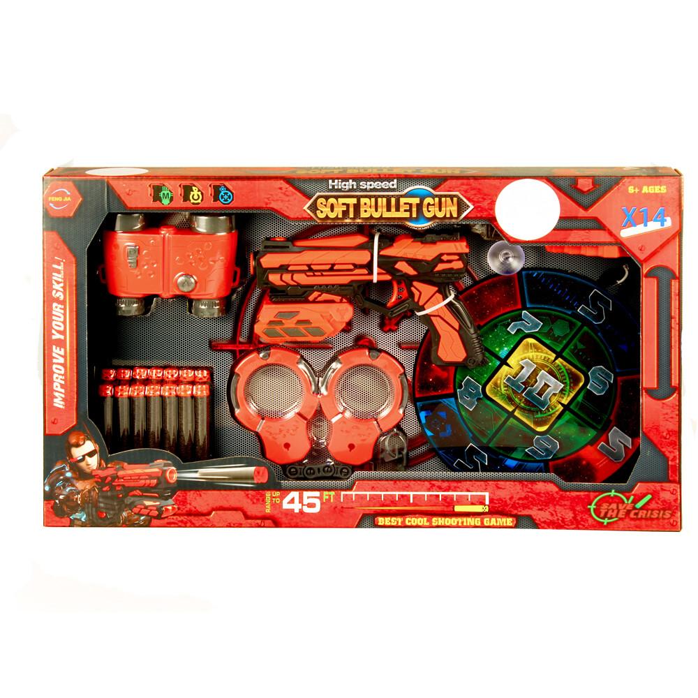 Набор игровой Пистолет с мишенью, биноклем и наручниками. Feng Jia FJ012