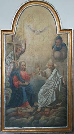 Икона святая Троица 19 век, фото 2