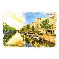 """Альбом для рисования 30 листов Крафт """"SKETCH BLOCK (скетчбук)"""" Амстердам (4823074000396)"""