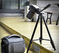146 см. Универсальный штатив трипод FY608 для фото/видео c пузырьковым уровнем черный, фото 1