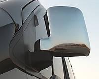 Накладки на зеркала вариант №1 (2 шт, пласт) Ford Connect 2010-2014 гг. / Накладки на зеркала Форд Транзит