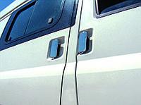 Ford Transit Накладки на дверные ручки (сталь, 3 двери, 4 части.) OmsaLine / Накладки на ручки Форд Транзит