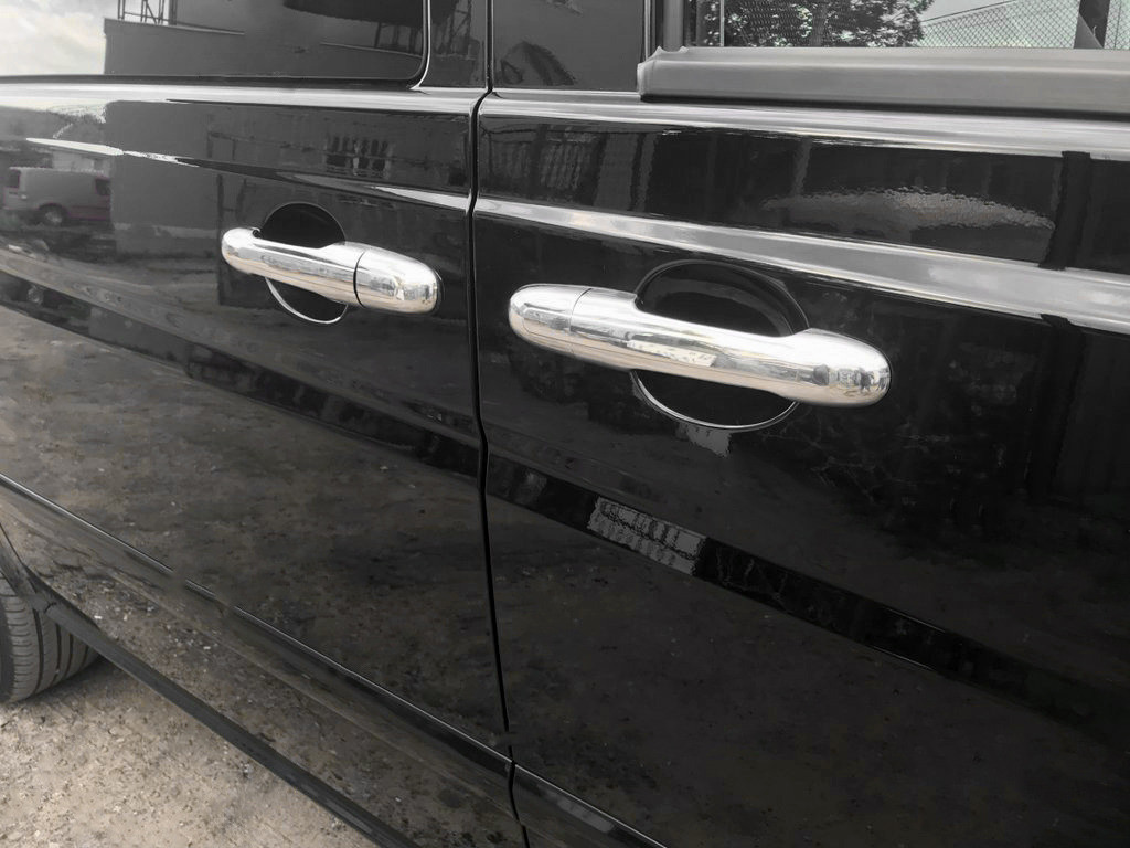 Mercedes Vito 639 Хром на ручки (сталь, 4 шт), Omsa / Накладки на ручки Мерседес Бенц Вито W639