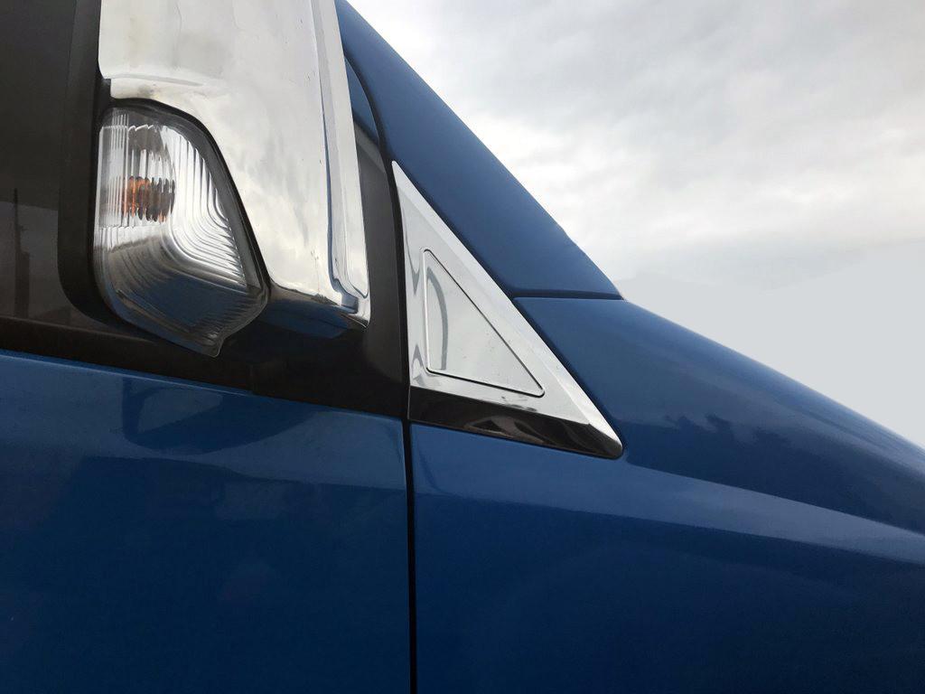 Накладки на дефлектор окон (нерж) Mercedes Sprinter 906 / Накладки на зеркала Мерседес Бенц Спринтер