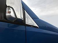 Накладки на дефлектор окон (нерж) Mercedes Sprinter 906 / Накладки на зеркала Мерседес Бенц Спринтер, фото 1
