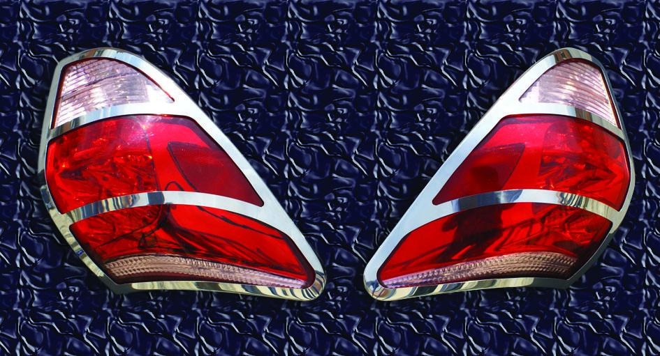 Накладка на стопы 2006-2009 (2 шт, нерж) Toyota Rav 4 2006-2013 гг. / Накладки на фонари Тойота Рав 4
