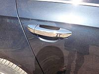 VW Passat В6 Накладки на дверные ручки (нерж.) 4 дверн / Накладки на ручки Фольксваген Пассат Б6, фото 1