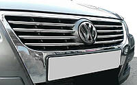 VW Passat В6 Накладки на решетку радиатора (нерж.) Кармос / Накладки на решетку Фольксваген Пассат Б6, фото 1