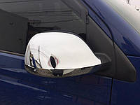 Volkswagen T5 Накладки на зеркала (хромированный пластик) / Накладки на зеркала Фольксваген Транспортер, фото 1
