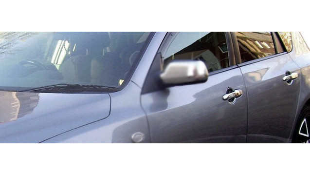 Накладки на ручки (4 шт, нерж) Mazda 3 2003-2009 гг. / Накладки на ручки Мазда 3