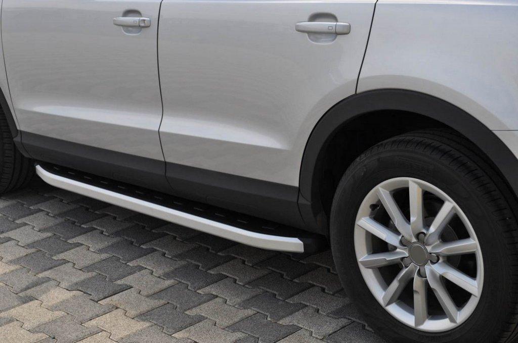 Боковые пороги Fullmond (2 шт., алюминий) Audi Q5 2008-2017 / Боковые пороги Ауди Q5