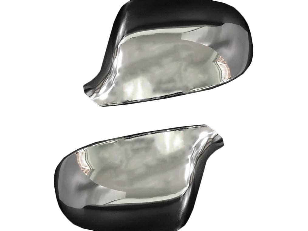 Накладки на зеркала (2 шт., нерж.) Audi A5 2007-2015 гг. / Накладки на зеркала Ауди A5