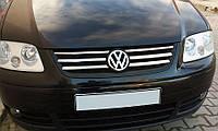 Накладки на решетку Life (6 шт, нерж) Volkswagen Caddy 2004-2010 гг. / Накладки на решетку Фольксваген Кадди, фото 1