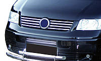 Решетка радиатора VW Т5 (8 накладок, Carmos) / Накладки на решетку Фольксваген Т5 (Транспортер)