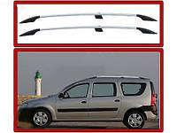 Dacia Logan MCV Хром рейлинги с пластиковыми ножками / Рейлинги Дачиа Логан МСВ