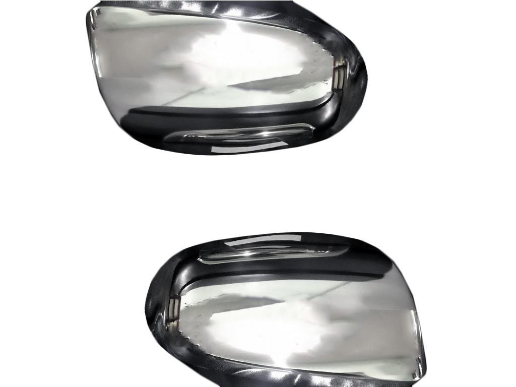 Накладки на зеркала (2 шт., нерж.) Audi A4 B7 2004-2008 гг. / Накладки на зеркала Ауди A4 B7