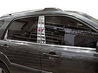 Накладки на стойки (6 шт, нерж) Kia Sportage 2004-2010 гг. / Накладки на двери КИА Спортейдж