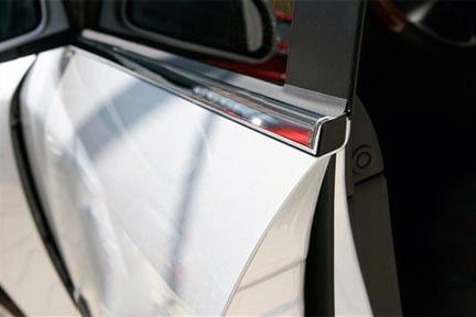 Окантовка стекол (4 шт, нерж.) Land Rover Discovery II / Накладки на двери Ленд ровер Дискавери 1