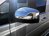 Mercedes Viano 639 2010↗ Накладки на зеркала (сталь) Carmos / Накладки на зеркала Мерседес Бенц Виано, фото 1