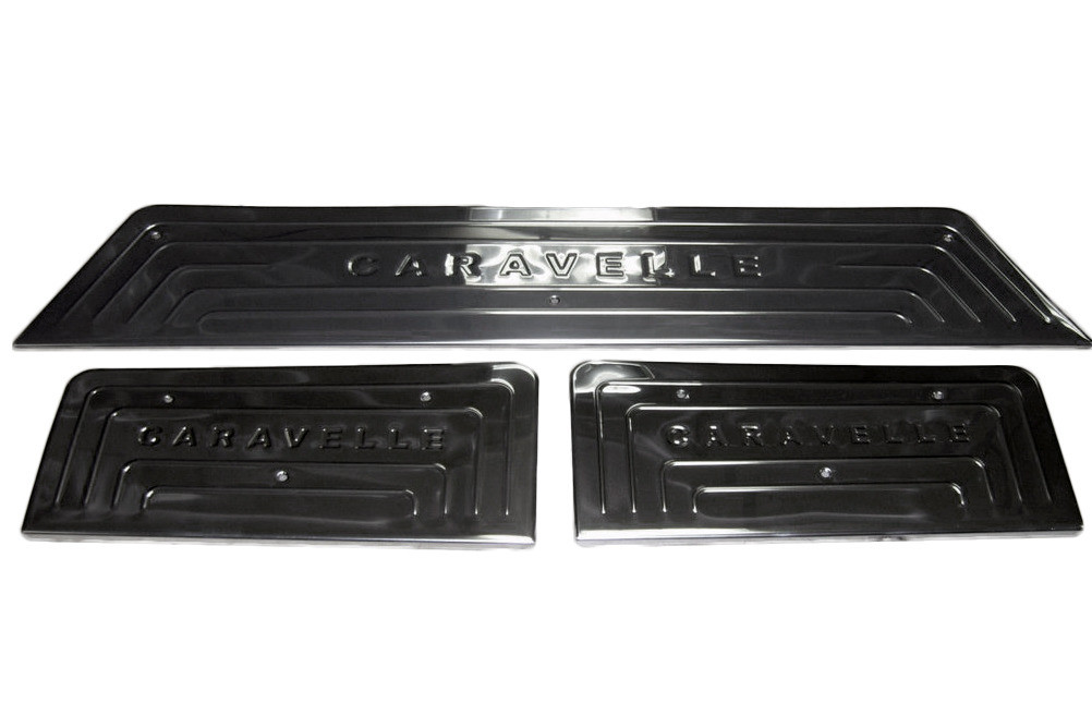 Transporter T5 FaceLift Накладки на пороги 3 двери OmsaLine / Накладки на пороги Фольксваген Транспортер