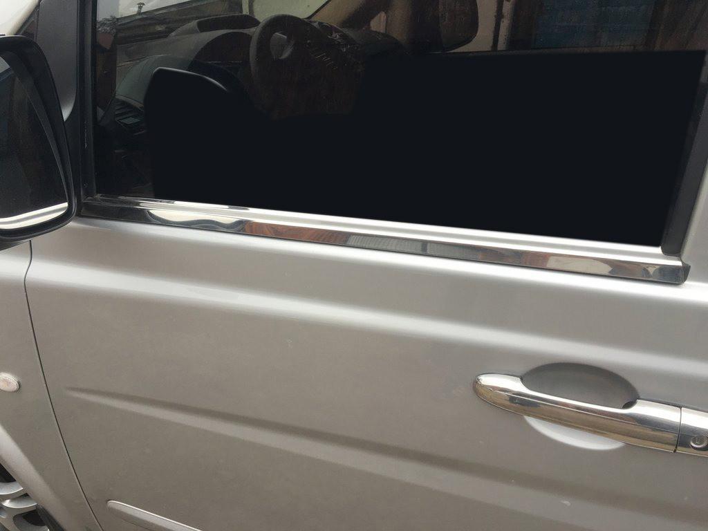 Mercedes Viano Молдинги стекол (сталь) Carmos / Накладки на двери Мерседес Бенц Виано