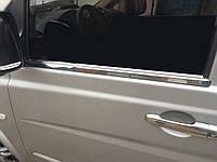 Mercedes Viano Молдинги стекол (сталь) Carmos / Накладки на двери Мерседес Бенц Виано, фото 1